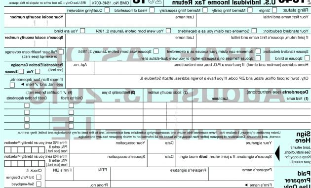 Printable Calendar Of Federal Government Fiscal Year 2019 Zwdg the New 2018 form 1040