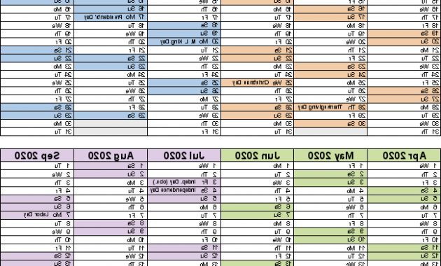 Printable Federal Government Fiscal Year 2020 Calendar 4pde Fiscal Calendars 2020 Free Printable Pdf Templates