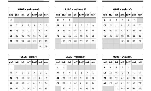 Printable Federal Government Fiscal Year 2020 Calendar Q5df Download Us Federal Fiscal Calendar 2019 20 Excel Template