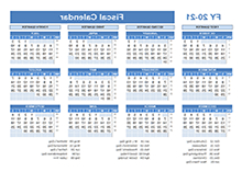 Printable Federal Government Fiscal Year 2020 Calendar Q5df Printable 2020 Fiscal Year Calendar Template Calendarlabs