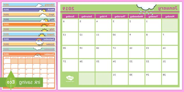 Printable Monthly Calendar 2017 Dddy 2019 Monthly Calendar Planning Template Monthly Calendar