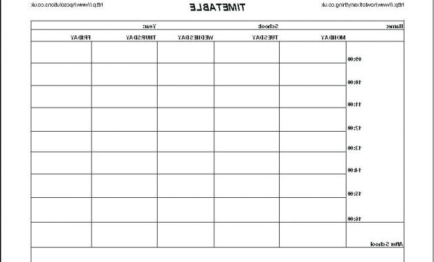 Printable School Calendar 87dx Blank School Schedule Template Free Printable Daily 7