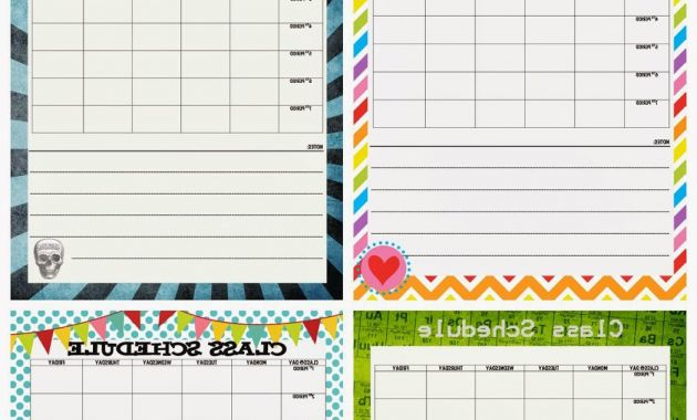 Printable School Calendar Zwd9 Junior High Class Schedule Printable