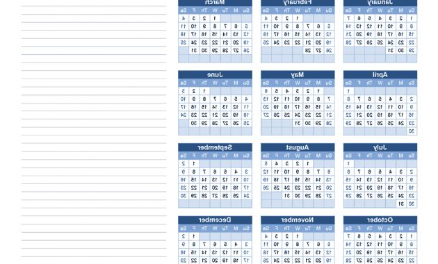 Printable Yearly Calendar 2017 Bqdd Download A Free 2017 Yearly Calendar with Notes From