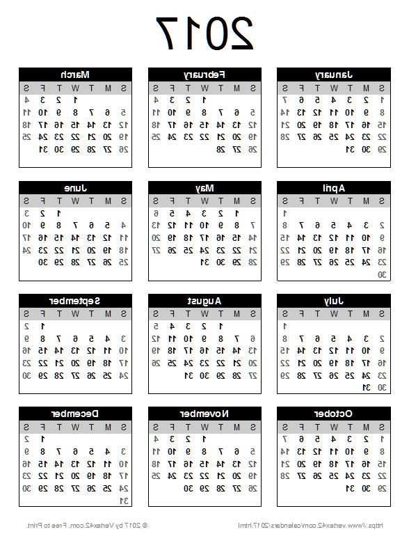 Printable Yearly Calendar 2018 Mndw Download A Free 2017 Calendar Portrait orientation From