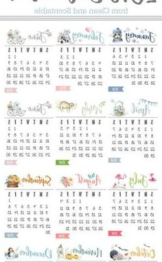 Printable Yearly Calendar 2018 Q5df 1258 Best Free Calendar 2018 Images In 2019