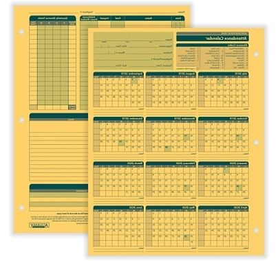 """Us Government Fiscal Year 2020 Calendar Q5df Plyright™ 2019 2020 Fiscal attendance Calendar 8 1 2"""" X 11"""" Pack 50 Item"""