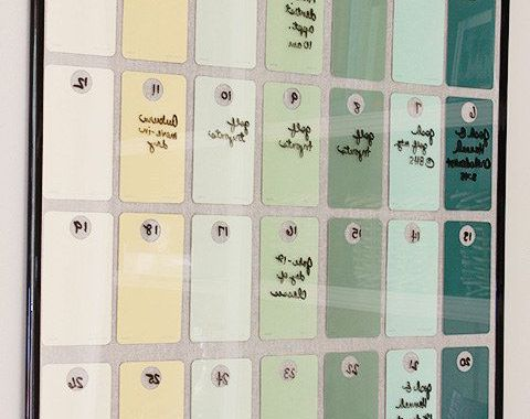 Waterproof Paper Calendar J7do Hot Glue Paint Chips to the Inside Of A Poster Frame for A