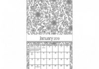 12 Wall Calendar Coloring Book – Trends International : Target – 2019 Coloring Wall Calendar