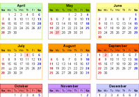15 Calendar – Download 15 free printable Excel templates (