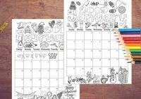 17 Coloring Calendar Coloring pages Instant digital   Etsy – 2019 Calendar Coloring Pages