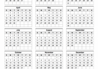 18 Calendar One Page With Notes – 2019 Year Calendar One Page