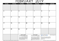 18 Calendar Templates and Images – 2019 Printable Year Calendar With Holidays