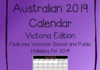 19 Australian Calendar – Victoria Edition by The Anxious ..