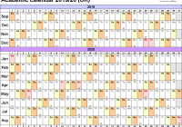 2 Year Calendar 2019 And 2020 With Academic Calendars As Free Printable PDF Templates