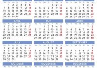 20 Elegant Squared Calendar English UK. Year 20 Calendar ..