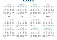 2019 Calendar By Year With Simple Wall Flat Isolated Vector Image