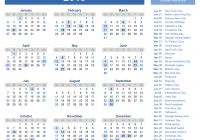 2019 Calendar Landscape Year At A Glance In Color With Templates And Images