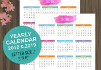 2019 Calendar Year At A Glance Printable With 2018 Desktop Wall
