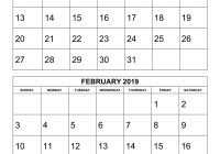 2019 Calendar Year At A Glance Printable With Free Download 2 Months Per Page 6 Pages