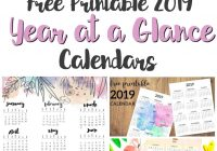 2019 Calendar Year At A Glance Printable With Musings Of An Average Mom
