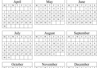 2019 Full Year Calendar Excel With Annual 2018 Portrait Printable 2017