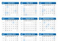2019 Printable Year Calendar With Holidays