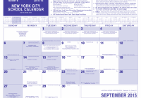 2019 School Year Calendar Nyc With Dept Of Education 2016 17 Best 2018