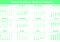 2019 School Year Calendar Victoria With Download Free Holidays Templates