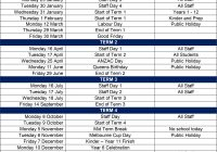 2019 School Year Calendar Victoria With Term Dates Lowther Hall