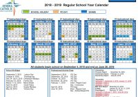 2019 School Year Calendar With Kenora Catholic District Board