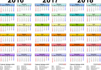 2019 Year Bengali Calendar With 2016 2017 2018 4 Three Printable Excel Calendars