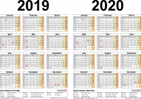 2019 Year Calendar Uk Printable With To View Two Calendars For