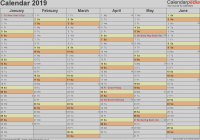 2019 Year Planner Calendar With Free Printable