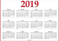 2019 Year To Page Calendar With Free Printable One May