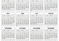 2019 Year View Calendar With Printable Yearly Pinterest