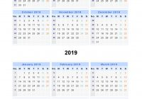 2019 Year View Calendar With Split Calendars 2018 From July To June