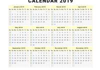 2019 Year View Calendar With Unique To Printable Free