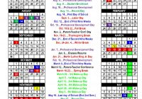 Academic Year Calendar 2019 With 2018 School Nicoma Park Middle Schools