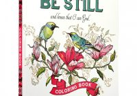 """Amazon.com: """"Be Still"""" Inspirational Adult Coloring Therapy .."""