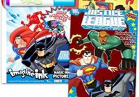 Amazon.com: Justice League Imagine Ink Coloring Book Set — 13 Mess ..