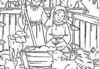 Baby Jesus, : Nativity of Baby Jesus in a Manger Coloring Page ..