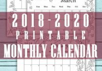 Calendar 17, 17, 17. Month per page. Monthly planner. Digital ..