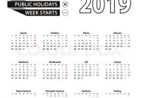 Calendar 20 in Irish language, week starts on Monday. Vector ..