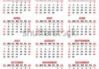 Calendar 20 Year Simple Style White Stock Vector (Royalty Free ..