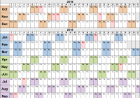 Calendar 2019 Tax Year With Fiscal Calendars As Free Printable Word Templates