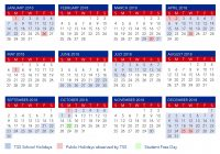 Calendar For Year 2019 Australia With Term Dates The Southport School