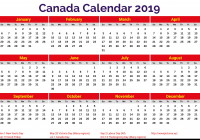 Calendar For Year 2019 Canada With Printable 2 Coloring Page Kids