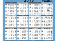 Calendar For Year 2019 Ireland With At A Glance Wall Desk To View Gloss Board Binding