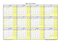 Calendar For Year 2019 Ireland With Planner